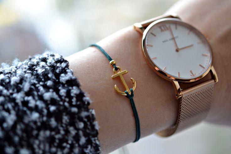 Armbänder - Filigranes Armband Anker DQ Metall - Gold - ein Designerstück von bracelens bei DaWanda  #dawanda #handgemacht #armband #armbänder #handmade #anker #schmuck