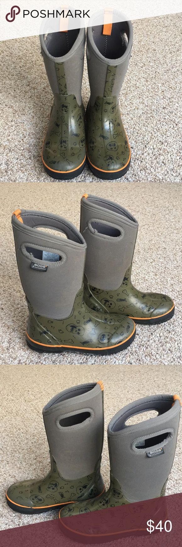 Boys BOGS Boys BOGS waterproof winter boots. Youth size 3. Normal wear and tear, Bogs Shoes Rain & Snow Boots