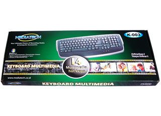 Keyboard Mediatech K003 with 14 multimedia keys, high quality membrane switch and ergonomic design