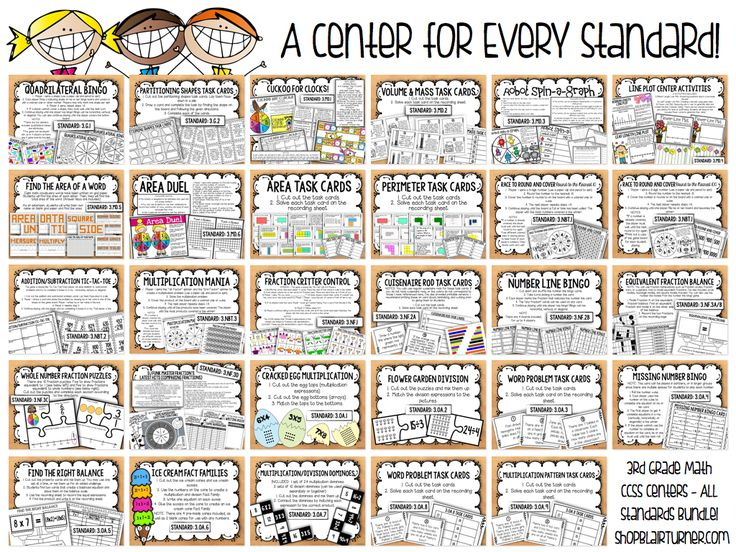 Ready-to-print, easy-to-prep math centers for each and every Common Core standard?! Yes please!