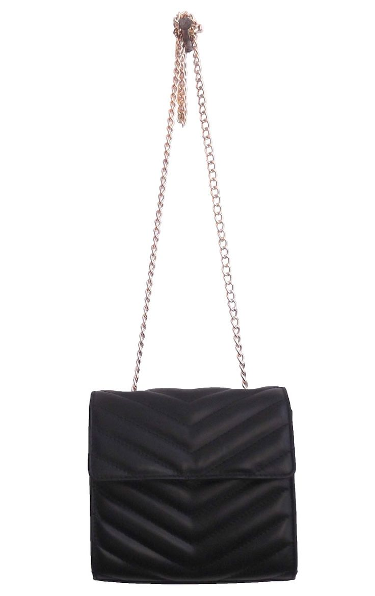 Black Colour PU Tote Bag with Black Embroidery