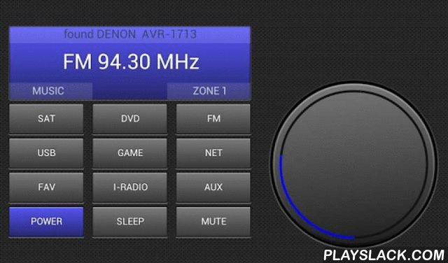 Remote Control For Denon  Android App - playslack.com , Control your Denon AV receicer with your Android phone or tablet via Wireless LAN. Every Denon (Marantz) receiver connected to your local network can be controlled.Features:* Fast auto discovery of y