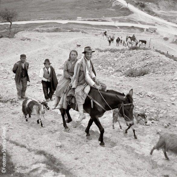 De retour des champs . Basilicate ( Lucanie) 1957. Ando Gilardi