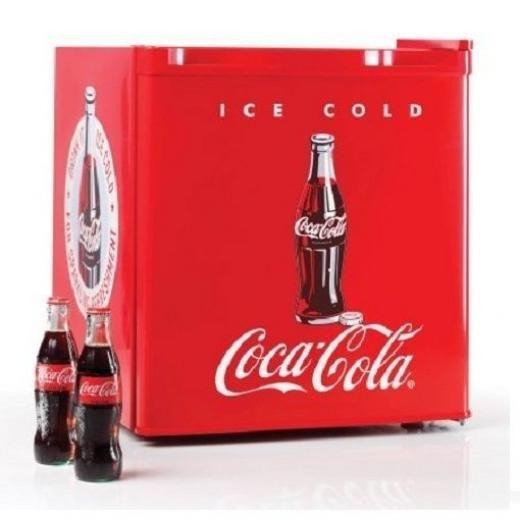 Nostalgia Electrics Compact Retro Coca Cola Fridge & Internal Freezer Mini Coke Office Refrigerator Crf170coke
