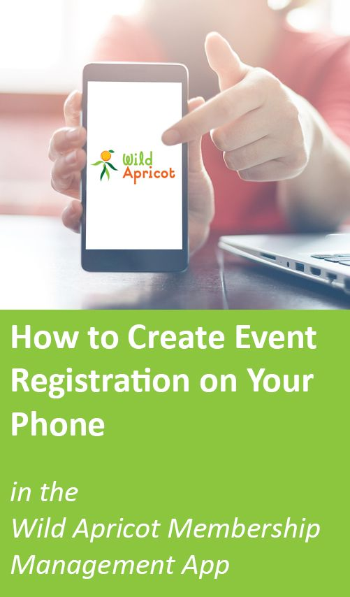 Watch the easy, step-by-step process to create an event on your phone with the Wild Apricot mobile app.