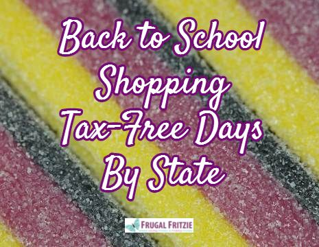 Back to School Shopping Tax-Free Days By State 2014