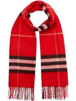39a30ea136e Check cashmere scarf