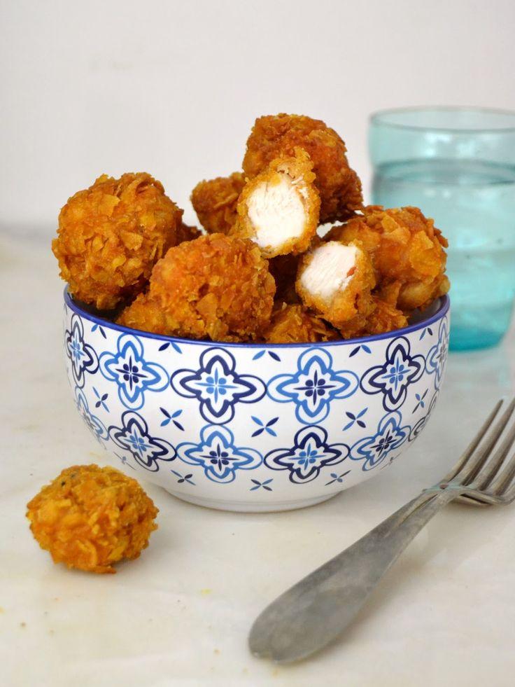 Cómo hacer palomitas de polo o bolitas de pollo crujientes. Receta paso a paso con vídeo