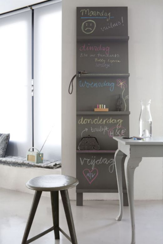 cool chalkboard/shelf combo