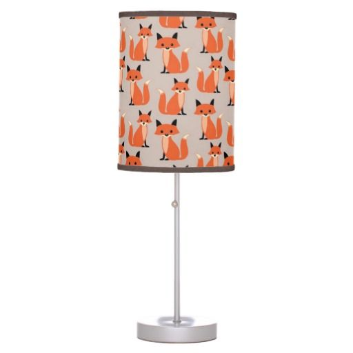What does the fox say? Retro, rustic chic cute, whimsical woodland hipster fox pattern kawaii lamp - cute baby nursery room decor #whatdoesthefoxsay #fox #foxes