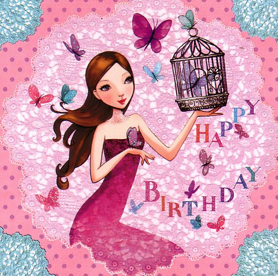 Square card by Mila Marquis by MarquisWonderland on Etsy, €1.20