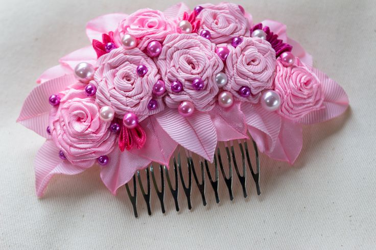 A personal favourite from my Etsy shop https://www.etsy.com/ie/listing/569081519/pink-flowers-rose-decorative-comb