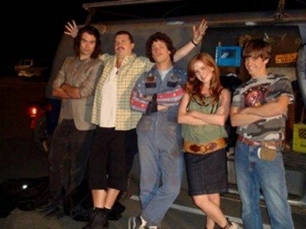 Still of Isla Fisher, Bill Hader, Danny McBride, Jorma Taccone and Andy Samberg in Hot Rod (2007)