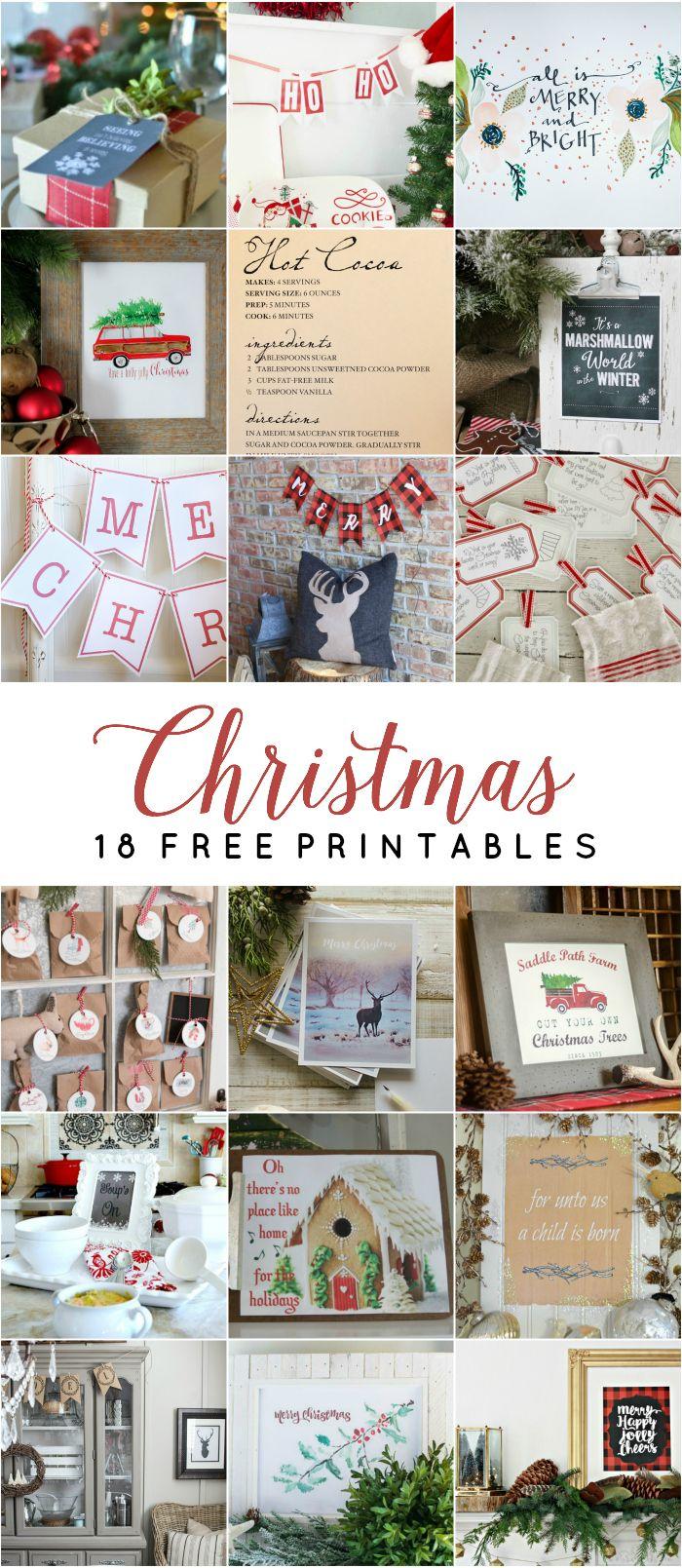 18 Free Christmas Printables