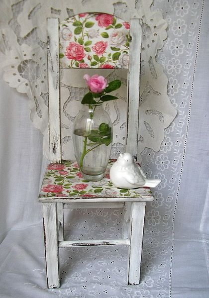 """Детская ручной работы. Ярмарка Мастеров - ручная работа """"Утренняя роза"""" стульчик. Handmade."""