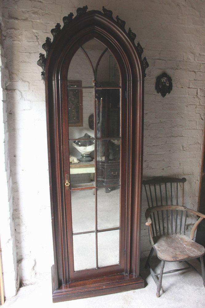 A Very Good Quality c.1860s Gothic Revival Oak Hall Cupboard – Doe & Hope