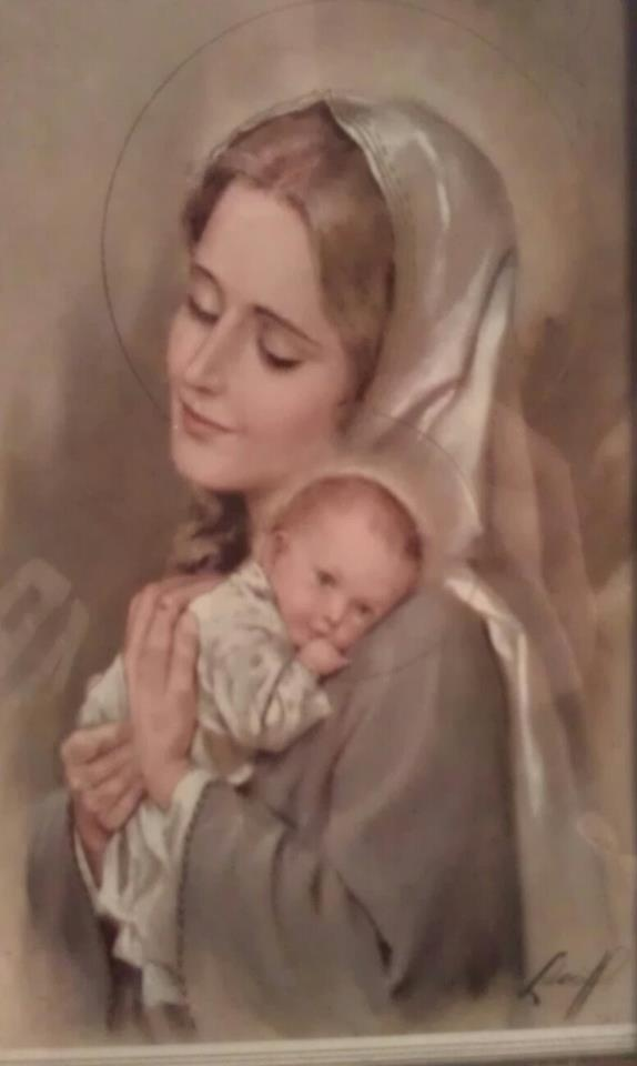 I want a picture like this. Where Mary just looks like a normal young mommy enjoying a moment with her baby, and Jesus looks like just a sweet little baby being cute instead of scowling or sleeping.