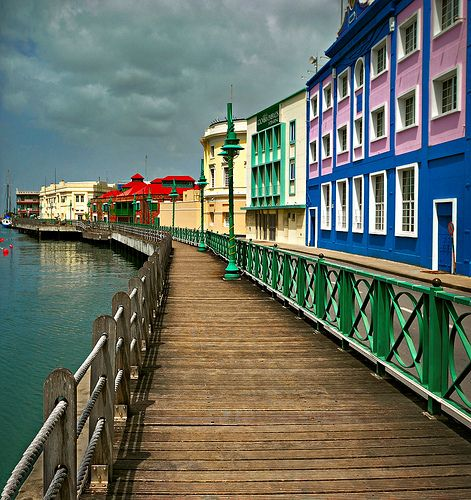 Barbados Boardwalk....Barbados, one of Brother and Sister Brown's Honeymoon stops.