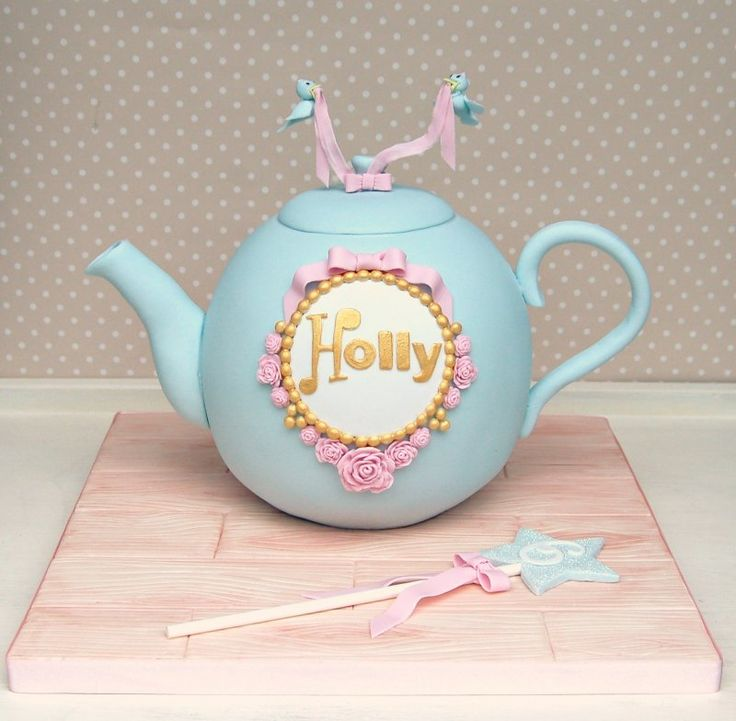 Teapot cake by Jellycake - For all your cake decorating supplies, please visit craftcompany.co.uk