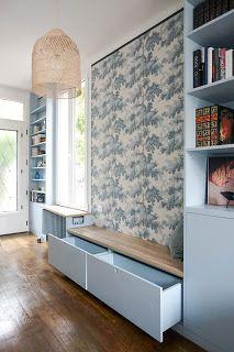 Esszimmer - Wohnzimmer - Offene Küche - Vordach weiß. Klar, bl ...