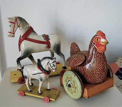 pull toys - love vintage toys