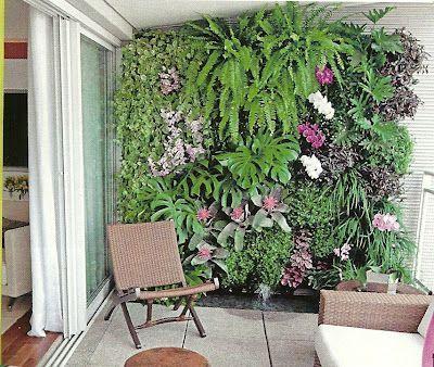 Reciclar e Decorar : blog de decoração com ideias fáceis e baratas: Jardim vertical