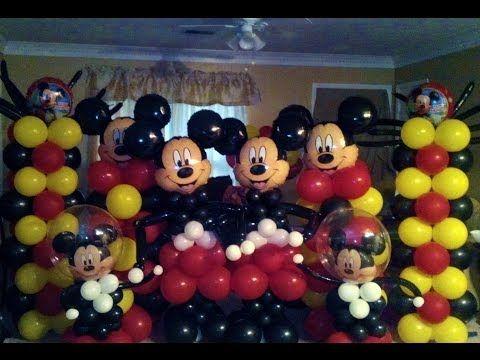 Микки Маус из шаров / Mickey Mouse from balloons - YouTube