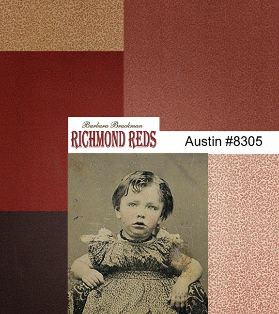 Barbara Brackman's MATERIAL CULTURE: Richmond Reds: Document Print for Austin