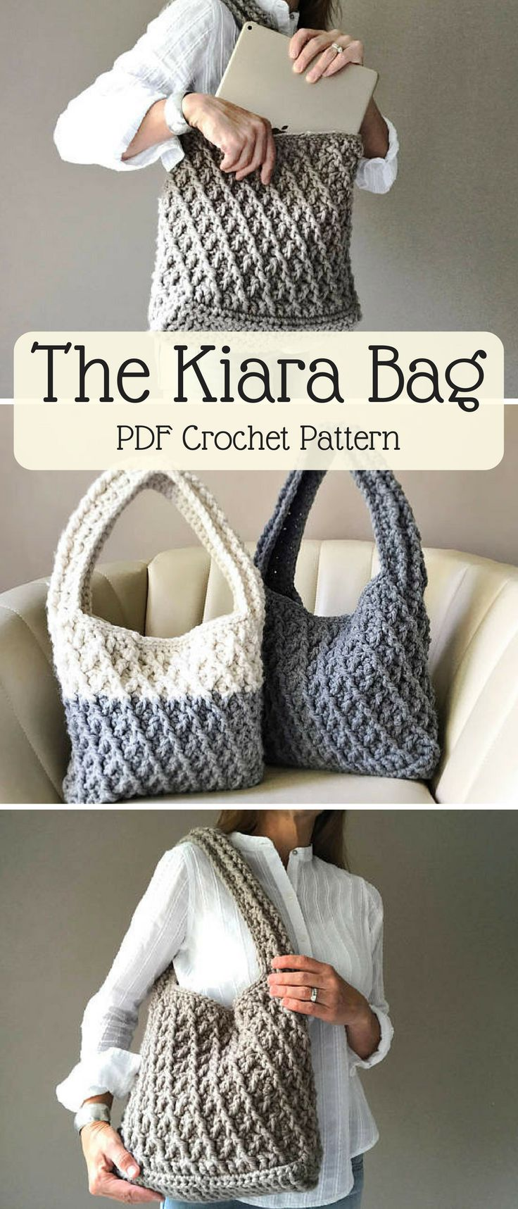 I can totally see myself wearing this beautiful crochet bag to the office. But first I have to make it! #crochetbag #ad #workbag #crochetproject #pattern #etsy