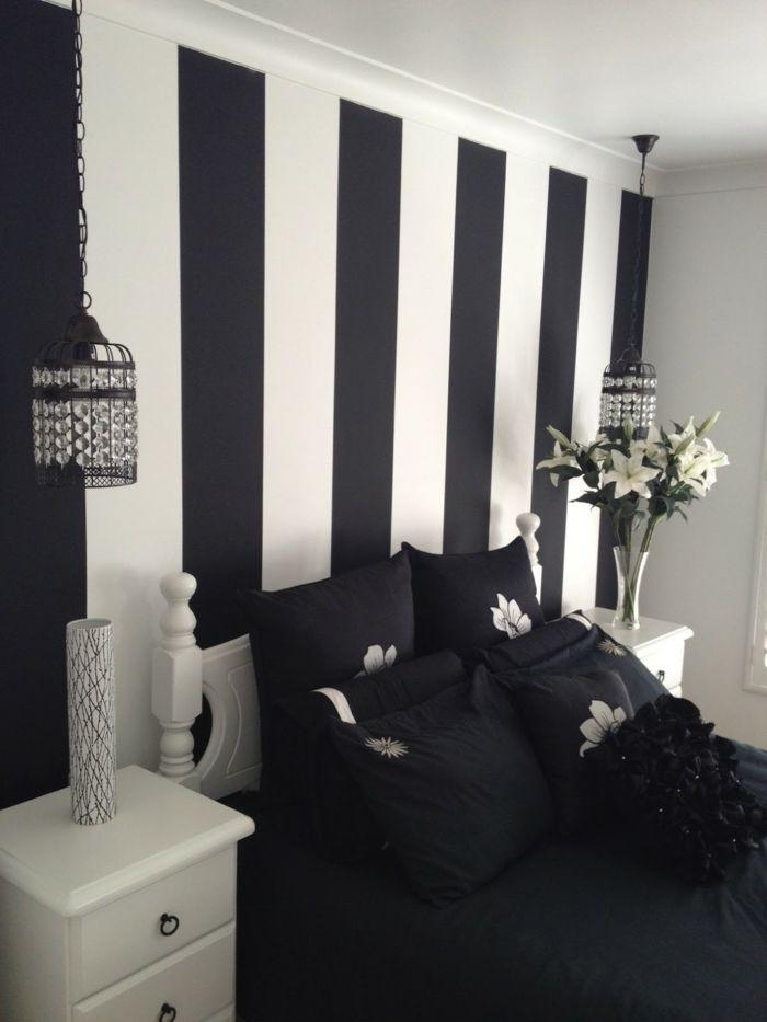 ▷ 1001+ Muster Schwarz-Weiß lassen Sie eine Wandgestaltung mit Farbe vergessen