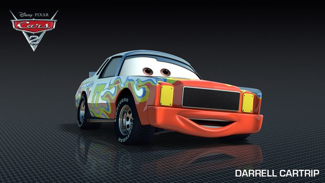 Cars 2 Characters: Darrell Cartrip (voice of Darrell Waltrip)