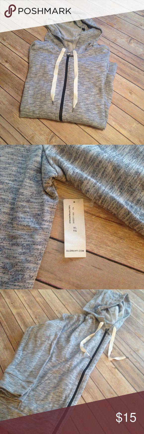 Old Navy Blue Marled Zip Up Hoodie XL Old Navy Blue Marled Zip Up Hooded Sweatshirt. Size XL. NWT. Thinner hoodie. Inner side feels like tweet cloth material. Old Navy Tops Sweatshirts & Hoodies