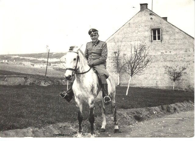 Amon Goeth on horseback in the Plaszow concentration camp that he was in charge of for most of 1943.
