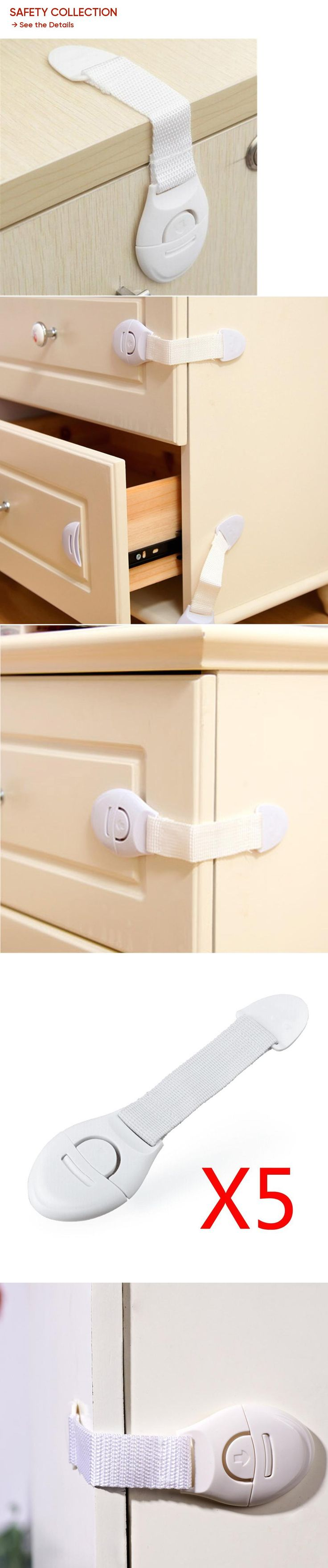 5Pcs/Lot Baby Safety Child Lock Plastic Drawer Door