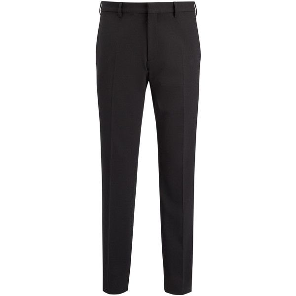 Joseph Techno Wool Stretch Jack Suiting Trousers (£300) ❤ liked on Polyvore featuring men's fashion, men's clothing, men's pants, men's dress pants, burgundy, mens stretch pants, mens wool dress pants, mens stretch dress pants, mens burgundy dress pants and mens zipper pants