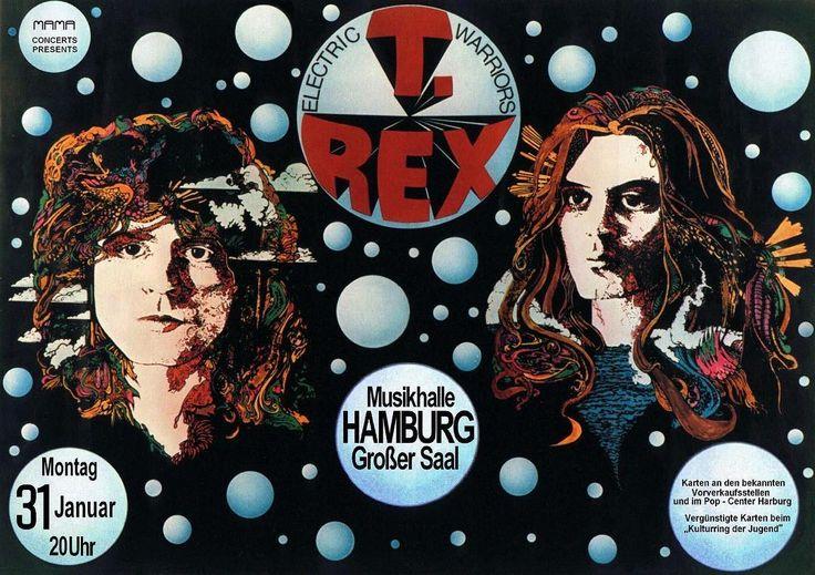 January 31st 1972 T.Rex play Grosser Saal Musikhalle Hamburg Germany.