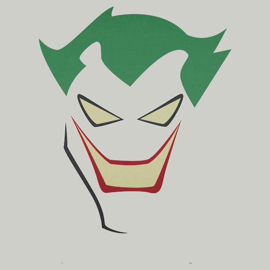 The Joker Cartoon Face Traffic Club