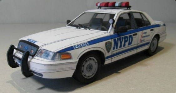 Here are NYPD and TAXI NYC Ford Crown Victoria paper cars, created by Bedntech and PaperTride, and the scale is in 1:25. You can download the paper model t