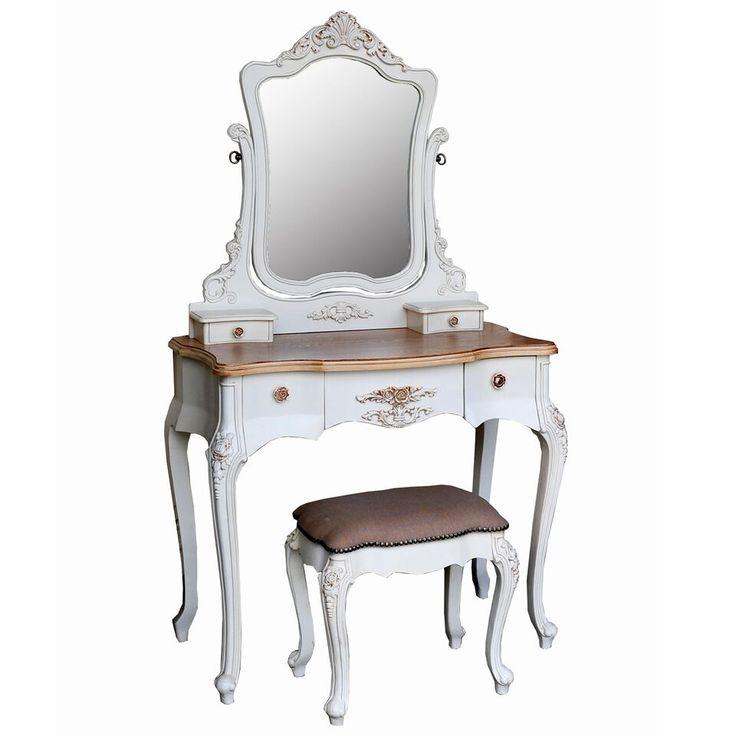 Die besten 25+ Cream dressing table stools Ideen auf Pinterest - faszinierende vintage schlafzimmermobel romantisch und sus
