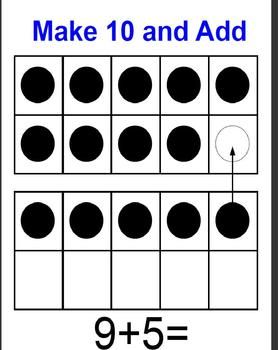 Addition to 20: Make 10 and Add Math Fact Strategy:
