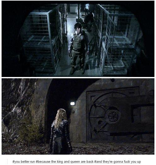 Bellamy Blake and Clarke Griffin || The 100 season 2 episode 15 - Blood must have blood pt 1 || Bellarke || Bob Morley and Eliza Jane Taylor