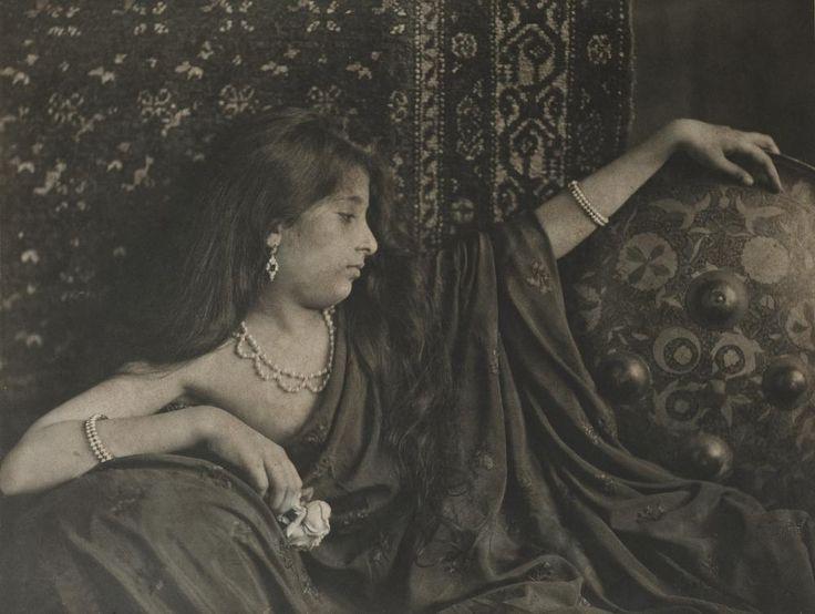 "les-sources-du-nil: ""Shapoor Bhedwar (1858-after 1918) ""Gool Guli - A Rose Bud"" from Art Studies album. Carbon Print, circa 1890s """