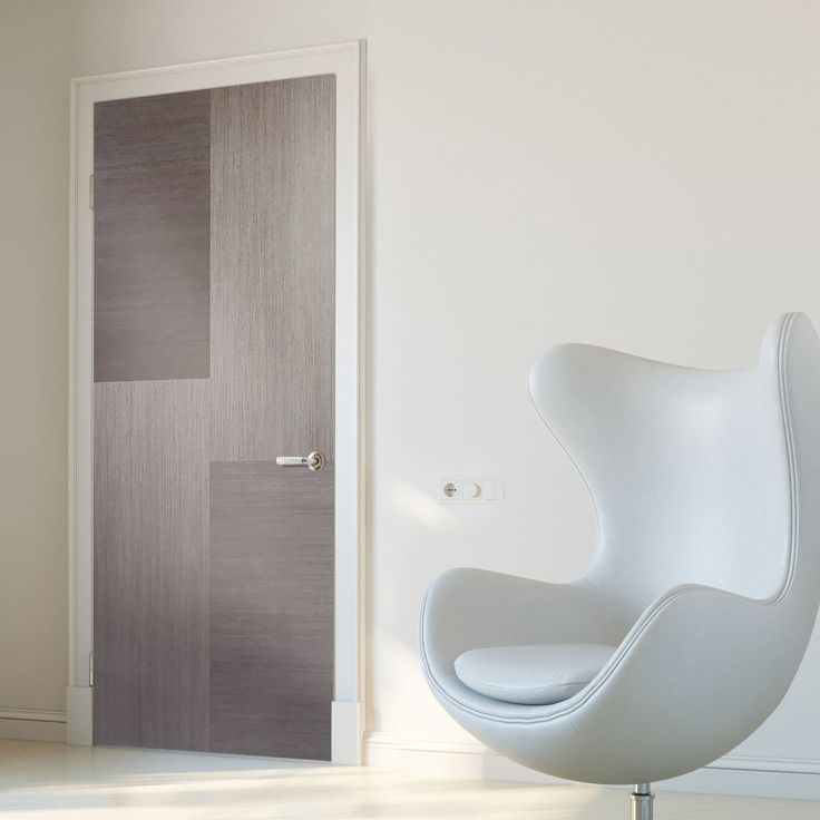 Hermes Chocolate Grey Flush Internal Door. #internaldoor #moderndoor #contemporarydoor