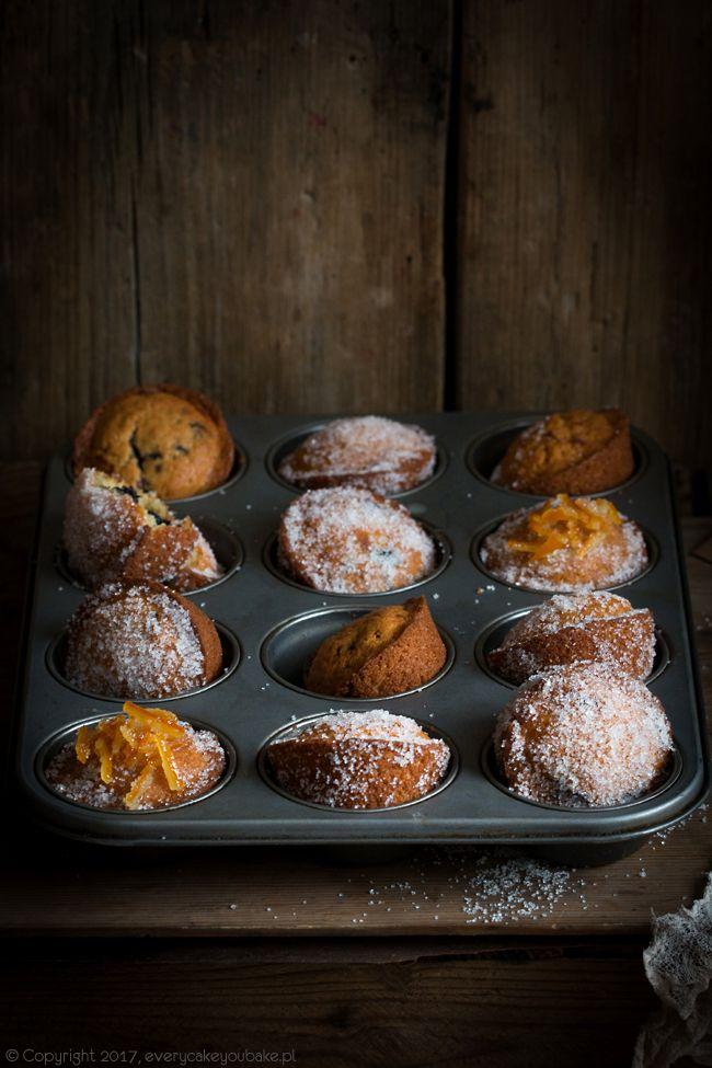 Pączkowe muffinki z konfiturą, doughnut muffins #muffinki #muffins