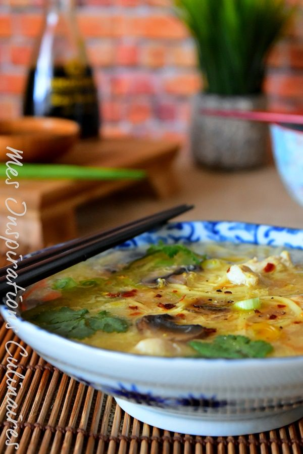 Recette soupe chinoise au poulet / chinese soup