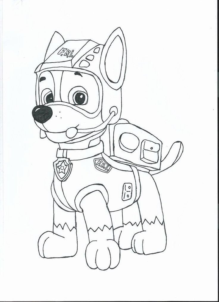 Paw Patrol Chase Coloring Page Awesome Chase Paw Patrol ...
