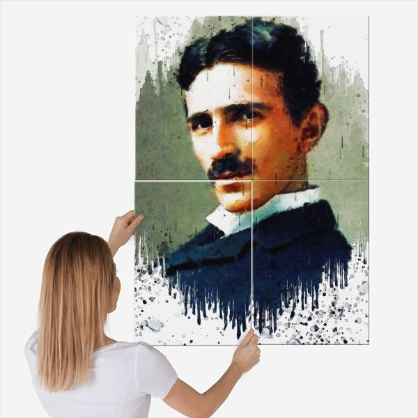 Nikola Tesla By The Poster Metal Posters Displate