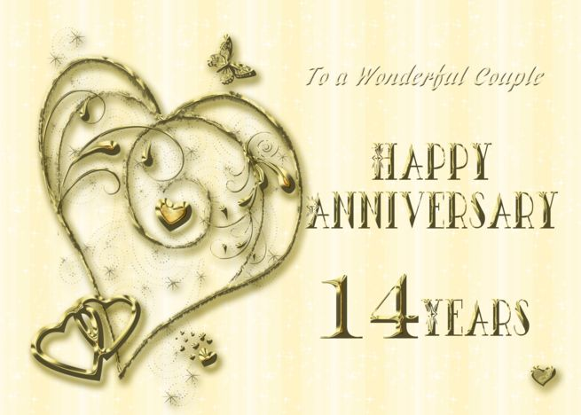 14 Year Anniversary Card For Couple Card Ad Ad Anniversary Year Card Coupl Anniversary Cards For Couple Anniversary Cards Wedding Anniversary Cards