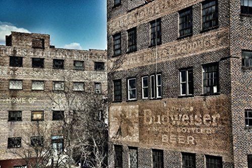 Budweiser Sign Urban Industrial Wall Art - http://findwallart.com/industrial-wall-art/budweiser-sign-urban-industrial-wall-art/