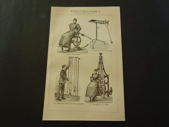 FITNESS equipment vintage print of sports by DecorativePrints